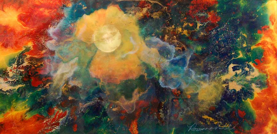 Solar Dance - Painting by Rozanne Bell