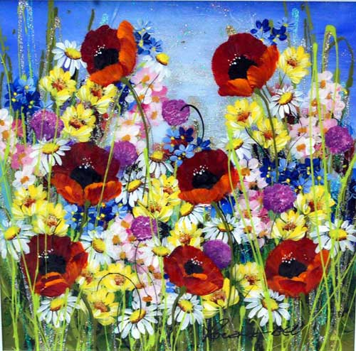 Daisy Daisy - Painting by Rozanne Bell