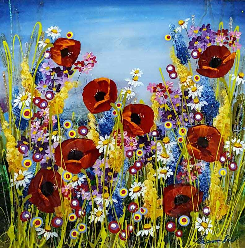 Summer's Bloom - Painting by Rozanne Bell