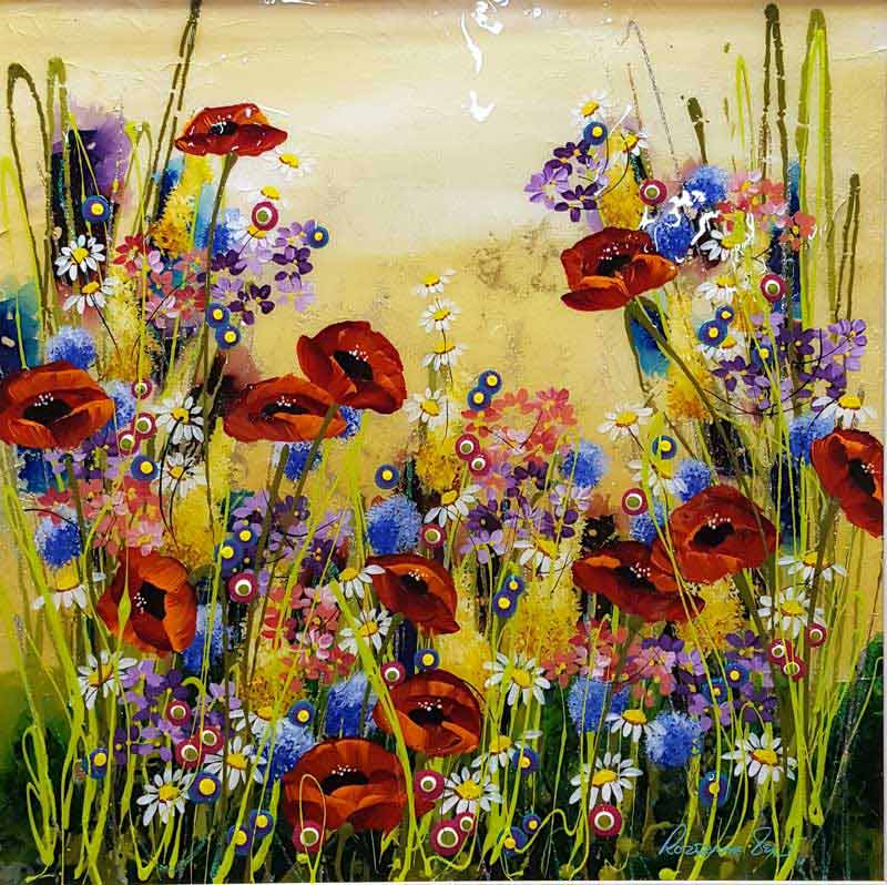 Scented Summer - Painting by Rozanne Bell