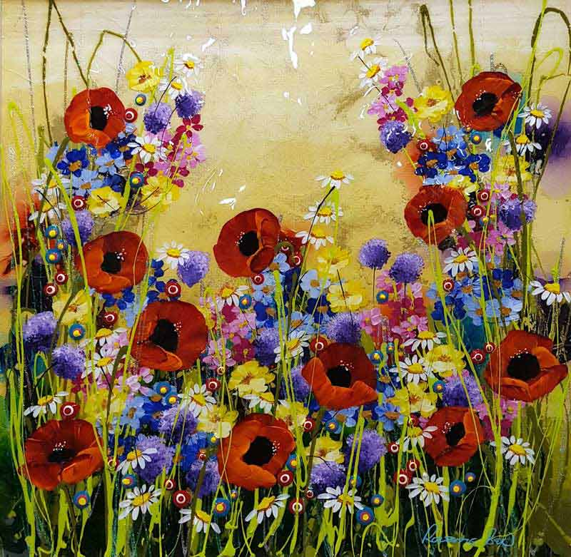 Poppy Passion - Painting by Rozanne Bell
