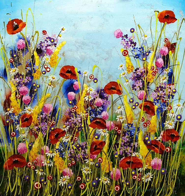 Poppy Medley - Painting by Rozanne Bell