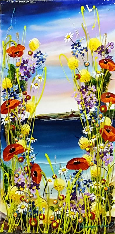 Primrose View - Painting by Rozanne Bell