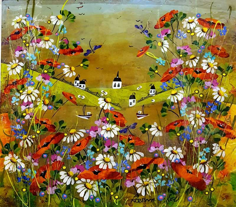 Blooming Valley - Painting by Rozanne Bell