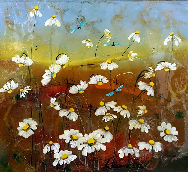 Scented Flight - Painting by Rozanne Bell