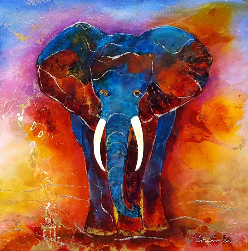 Gentle Giant - Painting by Rozanne Bell