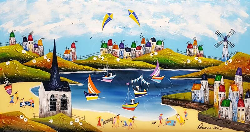 Coastal Delights - Painting by Rozanne Bell