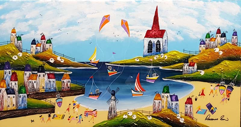 Sunny Sails - Painting by Rozanne Bell