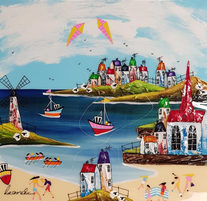 Summer Fun - Painting by Rozanne Bell