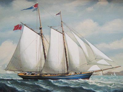 Schooner 2 - Painting by Salvatore Colacicco