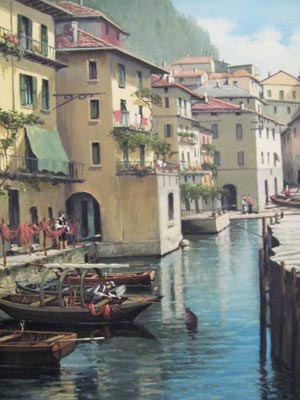 Varenna, Lake Como - Painting by Salvatore Colacicco