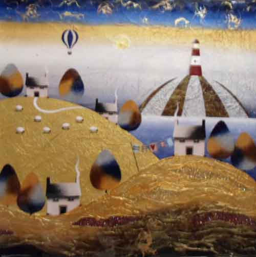 The Sparkling Lighthouse - Painting by Sarah Ewing