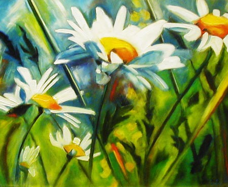 Daisies - Painting by Sean Curley