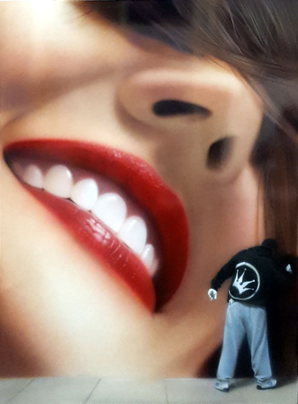 Smile - Painting by Soap (aka Adam Klodzinski)