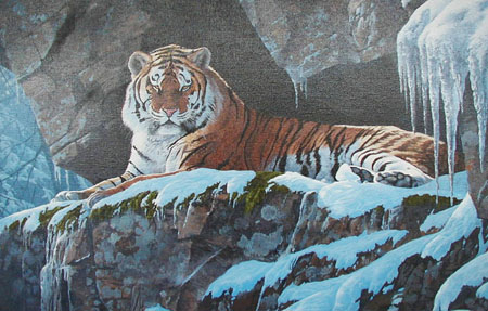 CFA Tiger - Painting by Stephen Cummins