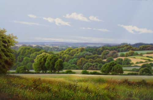 Landscape - Painting by Terence Grundy