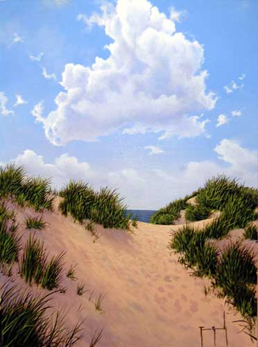 Warm Sands - Painting by Terence Grundy