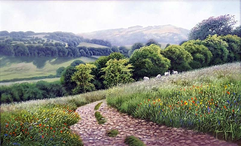 Stony Path - Painting by Terence Grundy