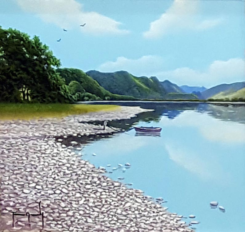 Keswick, Lake Windermere - Painting by Terence Grundy