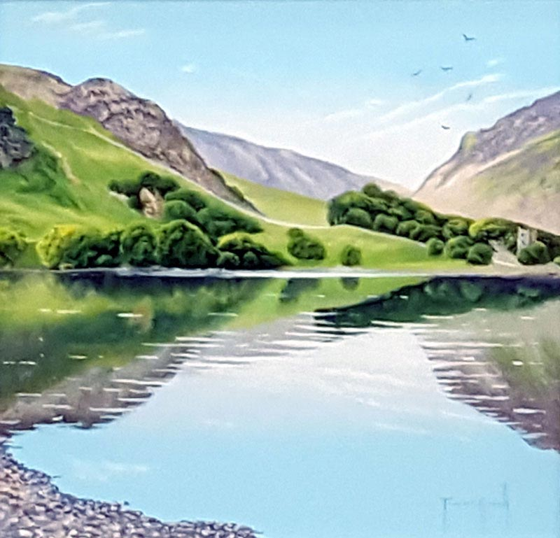 Lake Buttermere - Painting by Terence Grundy