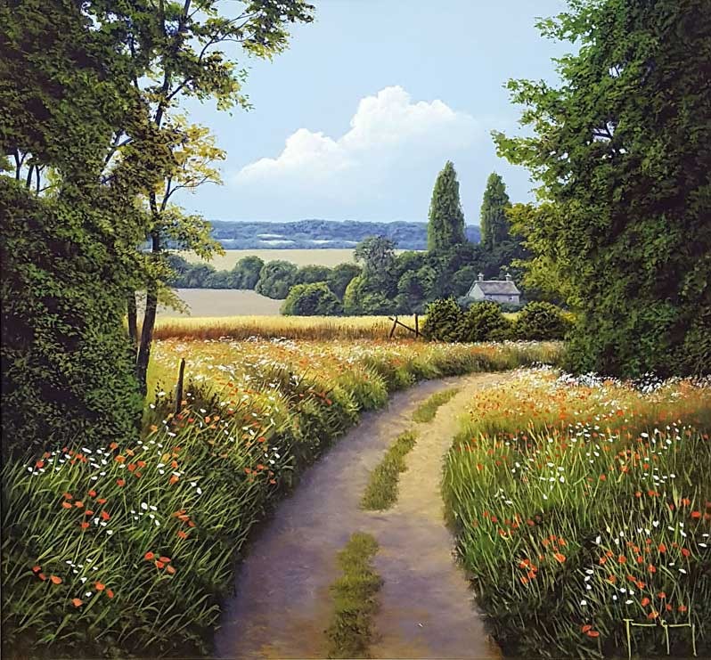 Around the Bend - Painting by Terence Grundy
