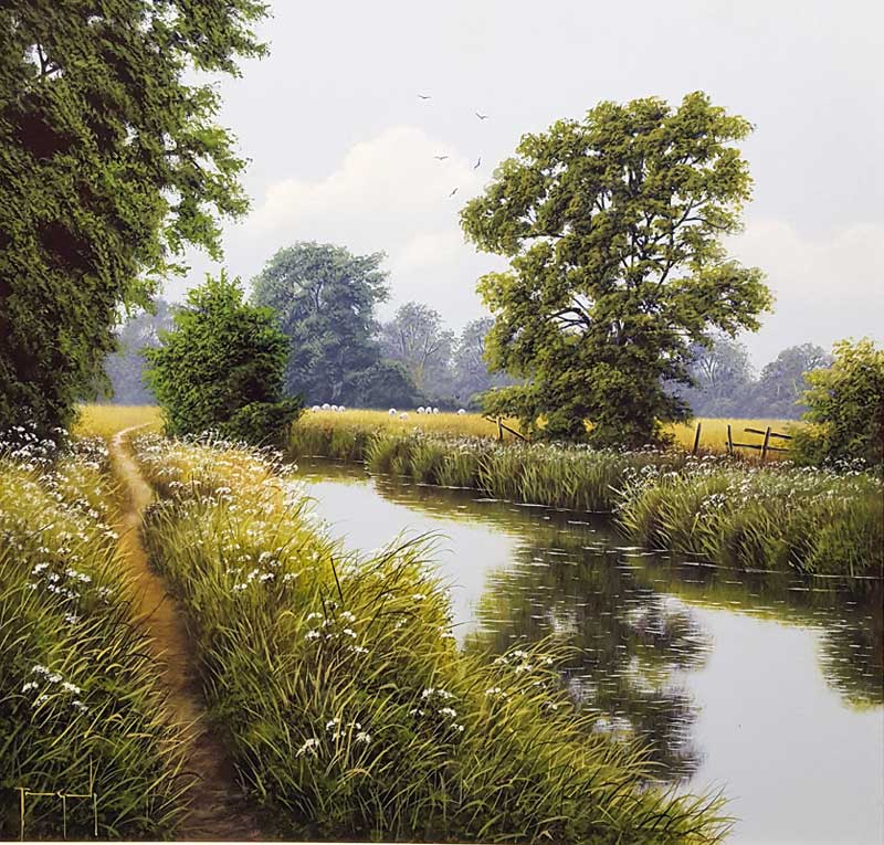 Verdant Water - Painting by Terence Grundy