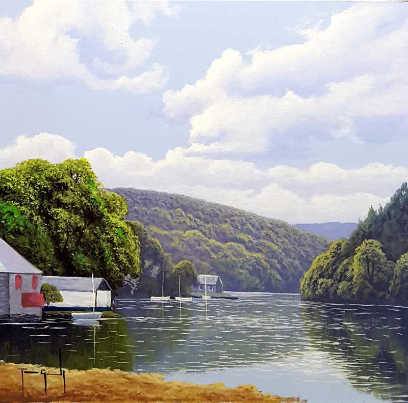 Lerryn River, Cornwall - Painting by Terence Grundy