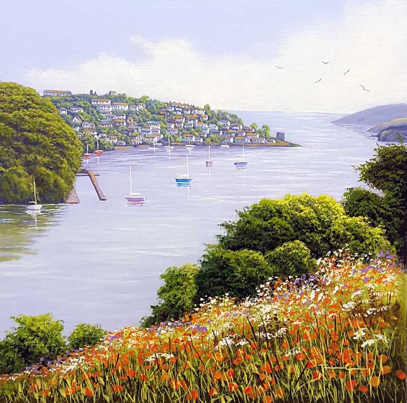 Fowey Estuary - Painting by Terence Grundy