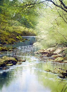 River Scene Two - Painting by Terry Evans