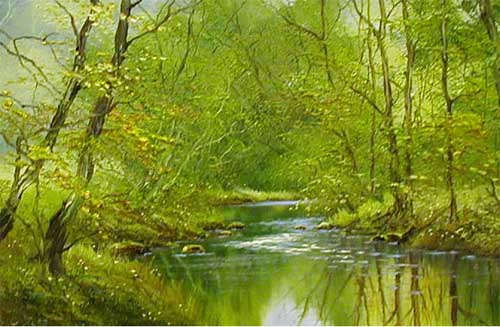 Forest Stream - Painting by Terry Evans