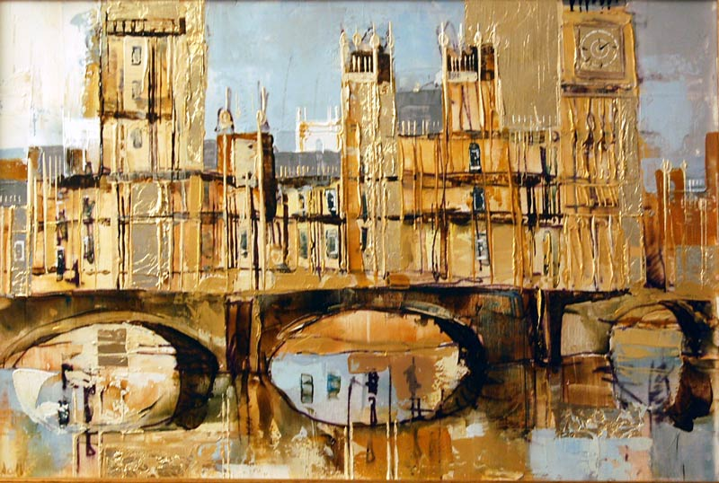 Houses of Parliament - Painting by Veronika Benoni